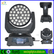 DJ light RGBWAUV 6in1 zoom 36*15W Led Moving Head / stage lighting