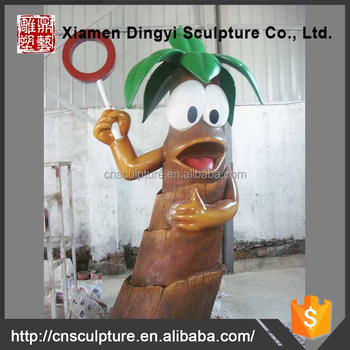 High Quality Life Size Cartoon Tree Sculpture Outdoor for Sale