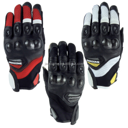 Protected Knuckle Short Cuff Motorcycle Gloves
