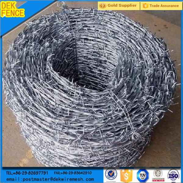 Galvanized barbed wire coil/barbed wire reel