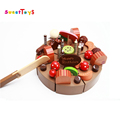 Hot Hot Hot!Wooden education cutting cake kitchen toys set/funny game