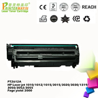 Office Supplies Printer Cartridge Q2612 Toner Cartridge for HP Laser jet 1010/1012/1015/3015/3020/3030/1319/3050 (PT2612A)