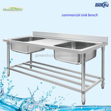 Commercial Kitchen Sink Outdoor Stainless Steel Sink Table