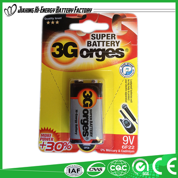China Manufacturer Made In China Best Quality 9V 6F22 006P Battery