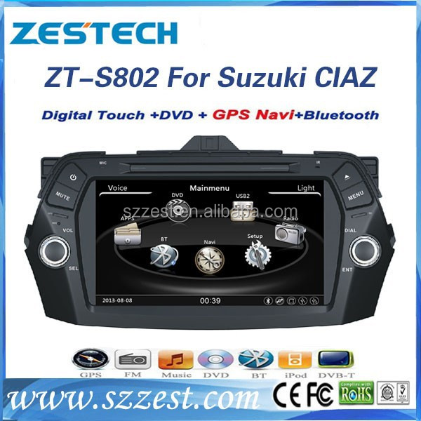 ZESTECH 8 inch double din car dvd player for Suzuki CIAZ accessories with GPS Navigation