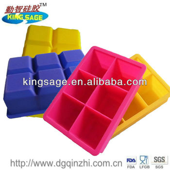 Perfect square silicone wholesale ice cube tray