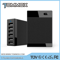 [6-Port+Auto Detect] Tommox TX-MU510 60Watt Rapid Wall Multi USB Charger For Ipad(5V2.4A Max)/for Iphone 6S/6S+/ for Samsung S6