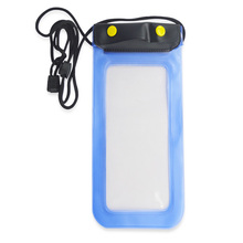 Promotional Fashion PVC Mobile Phone waterproof bag on neck