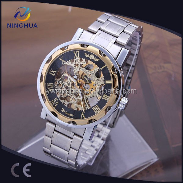 High Quality Automatic Full Steel Wrist Watch Winner