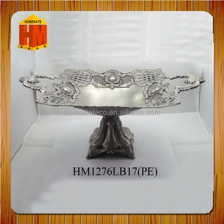2017 metal crafts new fruit bowl zinc alloy material for birthday party fruit plate tableware supplier decorative serving bowl
