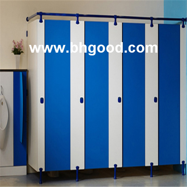 Nylon fittings HPL panel toilet partition / toilet cubicles size