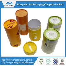 China wholesale custom paper cardboard round chinese tea box design in Dongguan