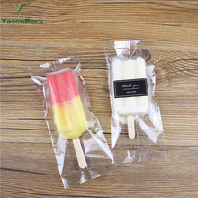 Eco-friendly color printed disposable clear biodegradable wholesale plastic popsicle packaging bag