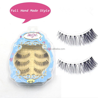 new fashion high quality synthetic hair material strip false eyelashes
