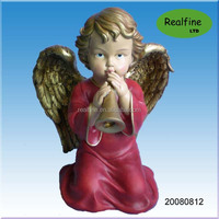 Polyresin resligious angel statue for Christmas decoration