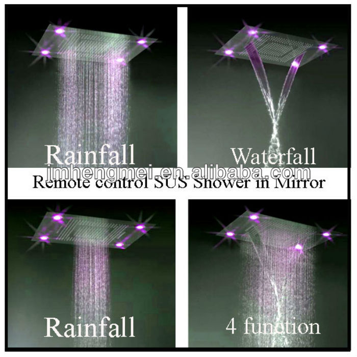 Europe electronic instant shower fountain led color flash shower