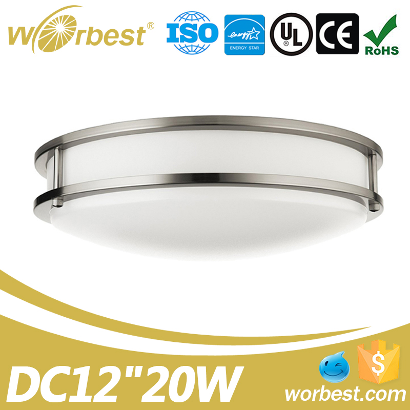 20w UL led ceiling lighting AC120V Dimmable 12inch flush mount led ceiling light fixtures
