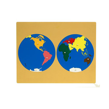 promotional early teaching wooden world map puzzle for kids