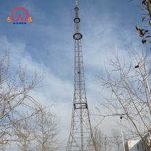 Cellphone antenna mast and four leg tube mobile communication tower