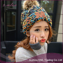 Girls korea tide autumn winter hat women sweety knitted cap