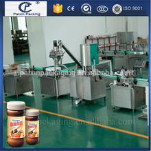 automatic milk and coffee powder filling capping and labeling machine for auger filler machine