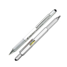 Promo 5 in 1 Aluminum Multifunctional Tool pen with level screwdriver pen