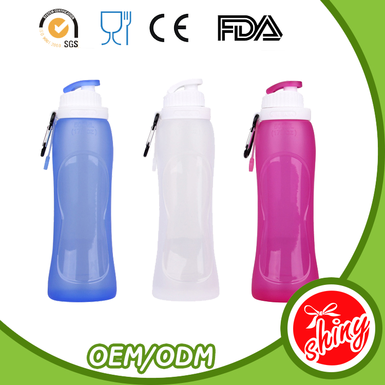 Brand new customized design sports drink travel silicone water bottle