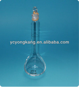 Lab glassware flasks Volumetric flask