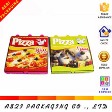 2015 hot sale italy rectangular CMYK printed mini pizza boxes for promotion