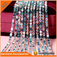 Factory Direct Empty Chain 3mm Crystal Rhinestone Cup Chain Trim For Bridal