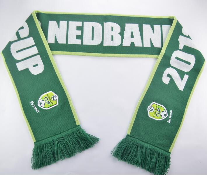 Customized design football fan sports woven scarf