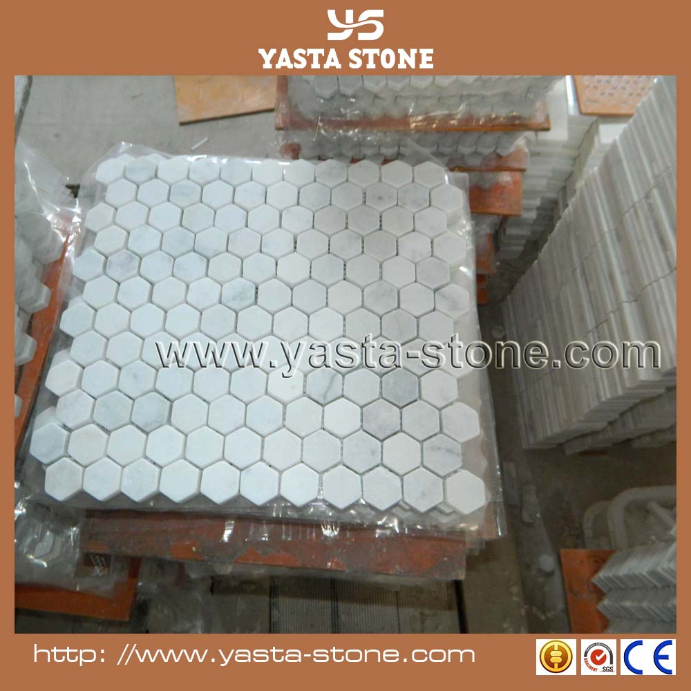 Top Seller Marble White Mosaic Polished Tiles