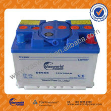 wholesale price German technology 55530 55565 DIN55 12v 55AH dry charged korean car battery for Africa market