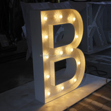 Quality guarantee led marquee letter B
