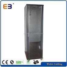 glass door/perforated rear door,data center application+19'' network rack