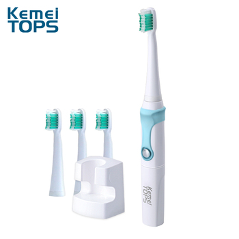 Kemei KM907 New Arrival Wholesale Sonic Patent Electric Toothbrush with Brush Head Holder for Baby and Adult