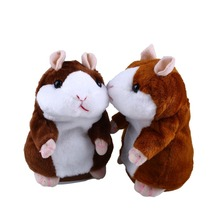 Talking Hamster Talk Sound Record Repeat Stuffed <strong>Plush</strong> Animal Kids Child Toy
