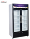 Display refrigerator 520L double doors soft drink display refrigerator freezer