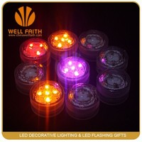 2015 New Arrival Promotion One Dozen Waterproof ultra bright Wedding Diamond small SUBMERSIBLE LED Candle Tea floating Light