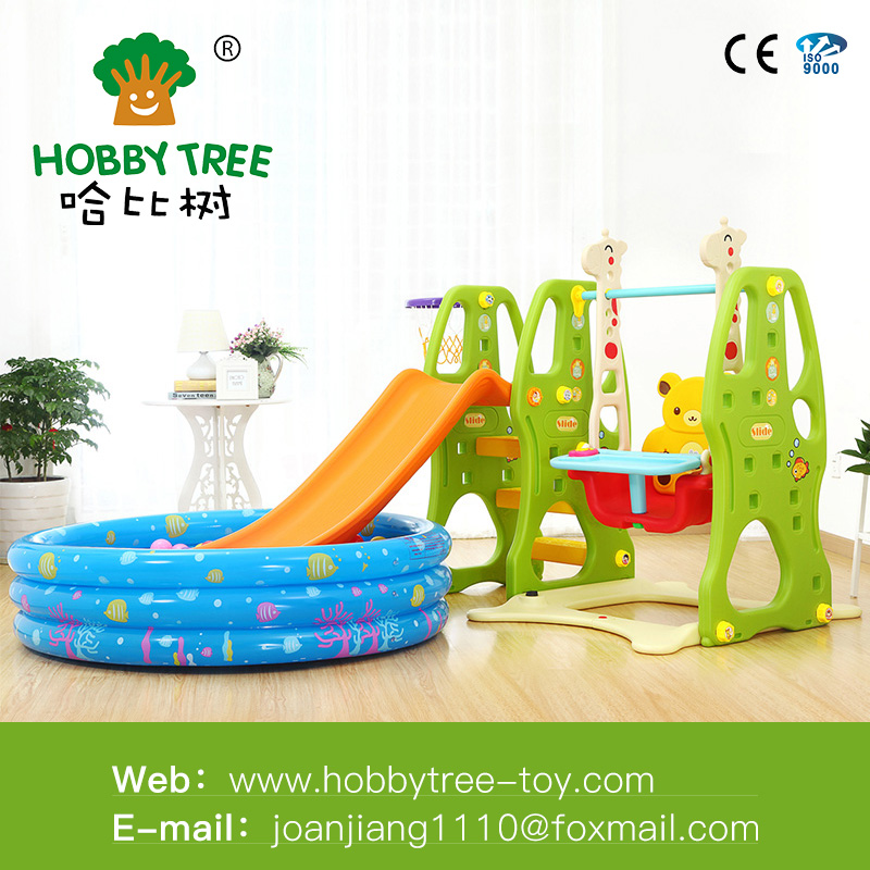 Outdoor Playground Kid Play Equipment Slide and swing set with sea ball pool