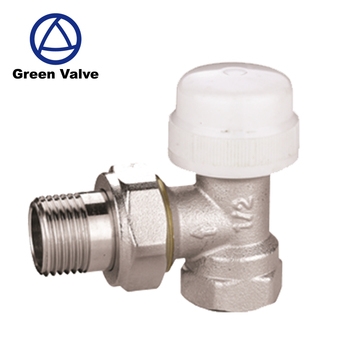 "Green Guten-Top China Manufacturer Forged 1/2"" 3/4"" Sand Blast and Nickel Plated Brass Angle Thermostatic Radiator Valve"