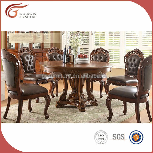 Classic italian dining room sets with <strong>leather</strong> dining chair A79