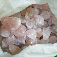 Natural rough rose quartz crystal tumble wholesale