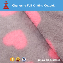 micro polyester coral fleece material fabric