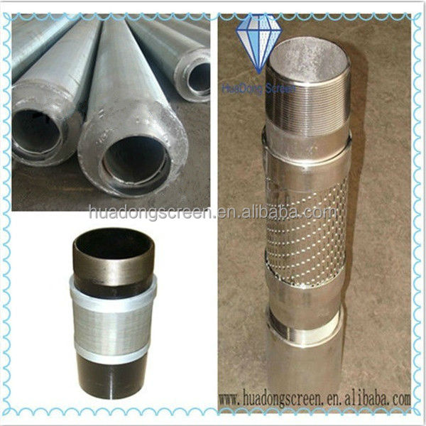 Water well drilling pipe based well screen for 250 meter well / deep water well screen
