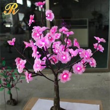 Plastic mini tree light up artificial flowers for wedding decoration
