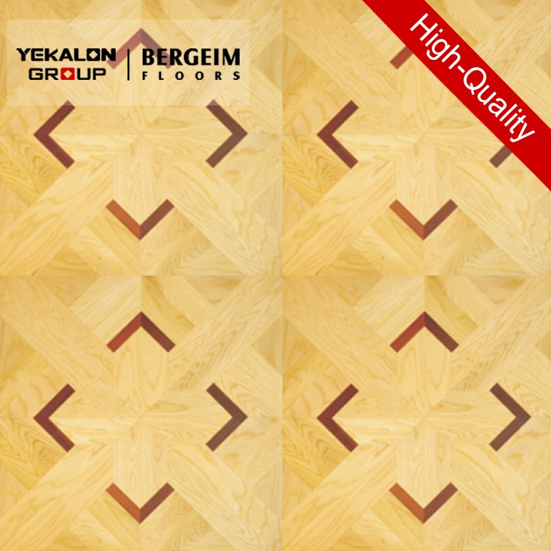 Bergeim Floors Solid Oak Chevron Versailles Parquet Floor