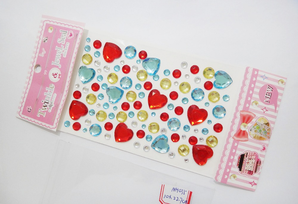 Prmomotion Gifts Self Adhesive Sticker,Hot Sale Mixed Color Acrylic Rhinestone Imitation Pearl Sticker