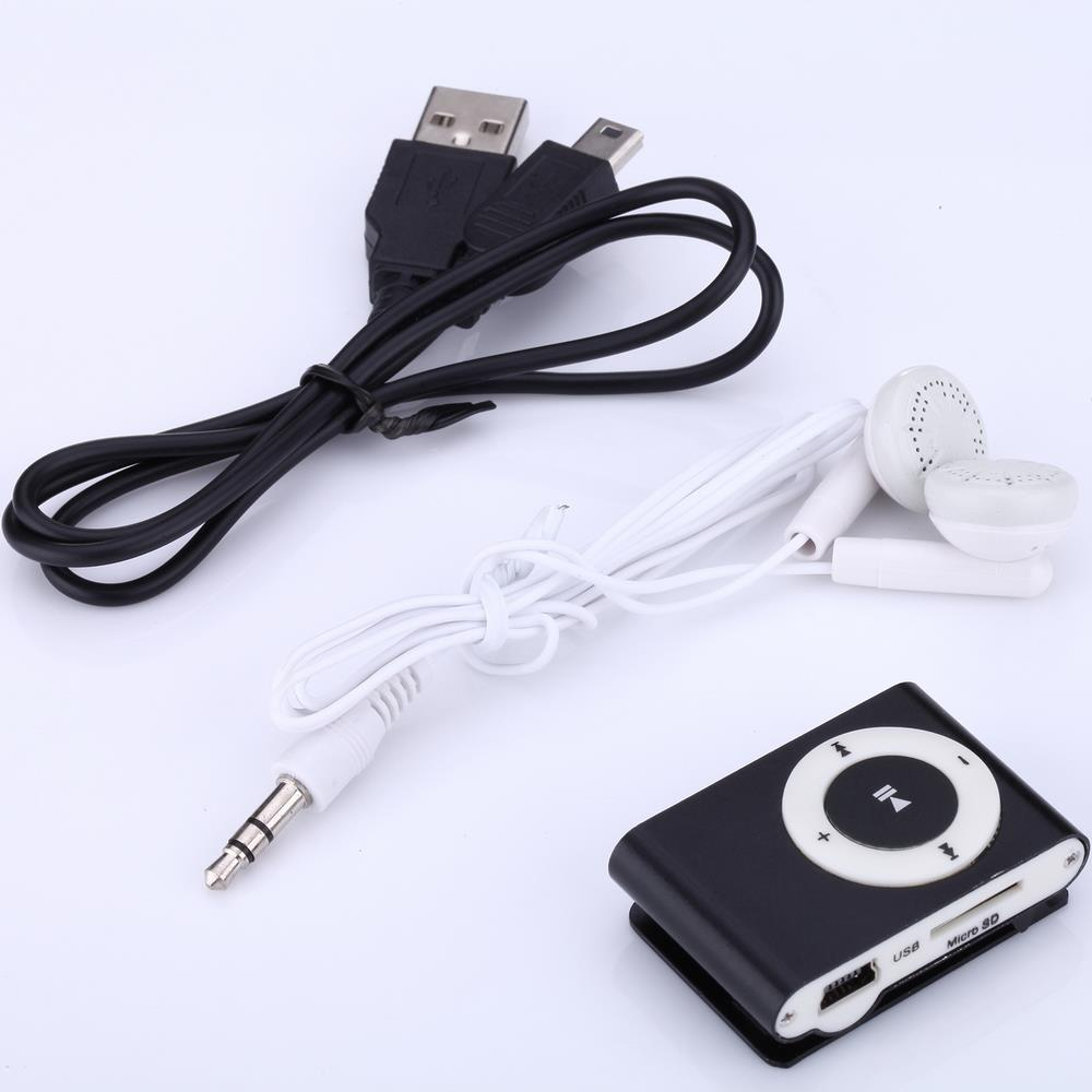 China Factory Selling Classic Retro Draagbare Mini Metalen Clip Mp3-speler Sport Muziekspeler met SD/TF Card Slot