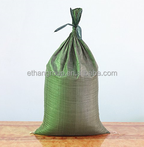 Green Pp Woven Bag For Sand 50kgs